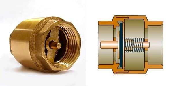 обратный клапан и его строение
