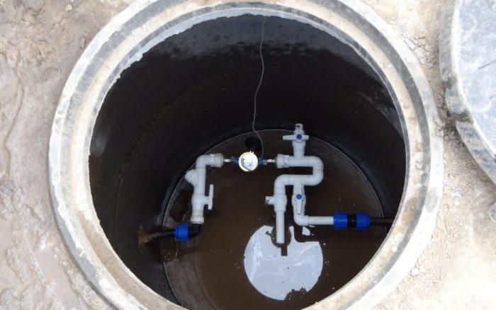 подключение водомера в колодце частного дома
