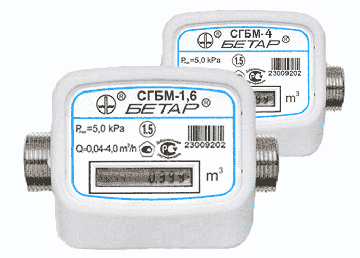счетчик измерения газа Бетар