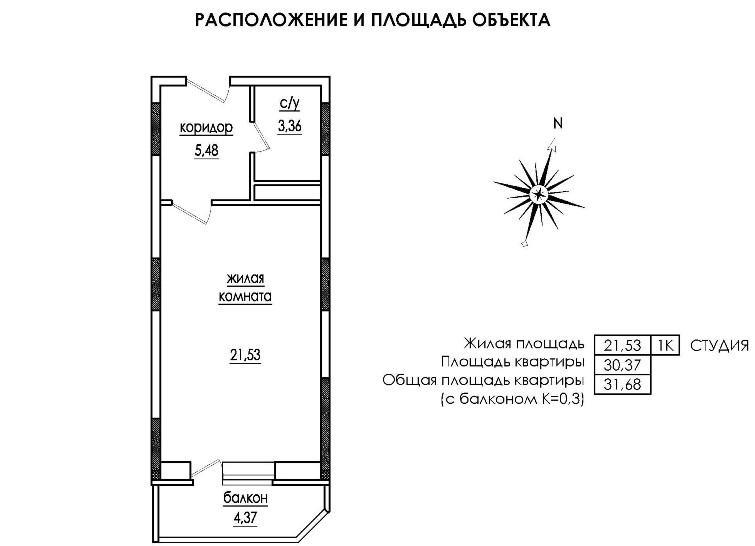 площадь квартиры кв.м